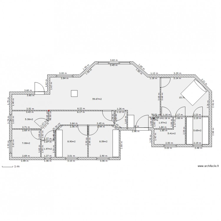 maison 2 plain pied - Plan 11 pièces 120 m2 dessiné par robanthim02