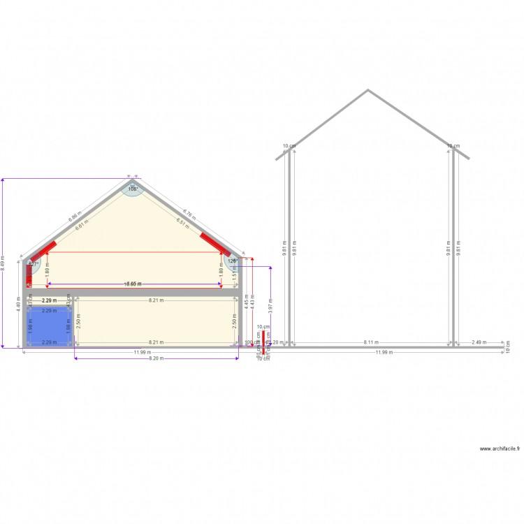 surface en projet plan 4 pi ces 62 m2 dessin par joseph1982