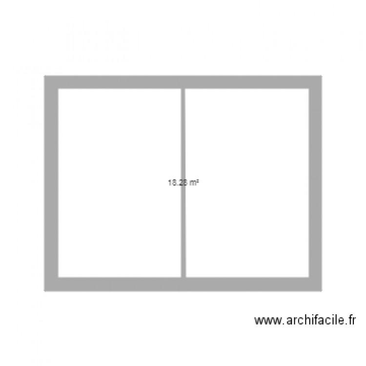 toilette plan 1 pi ce 18 m2 dessin par phigarcin. Black Bedroom Furniture Sets. Home Design Ideas