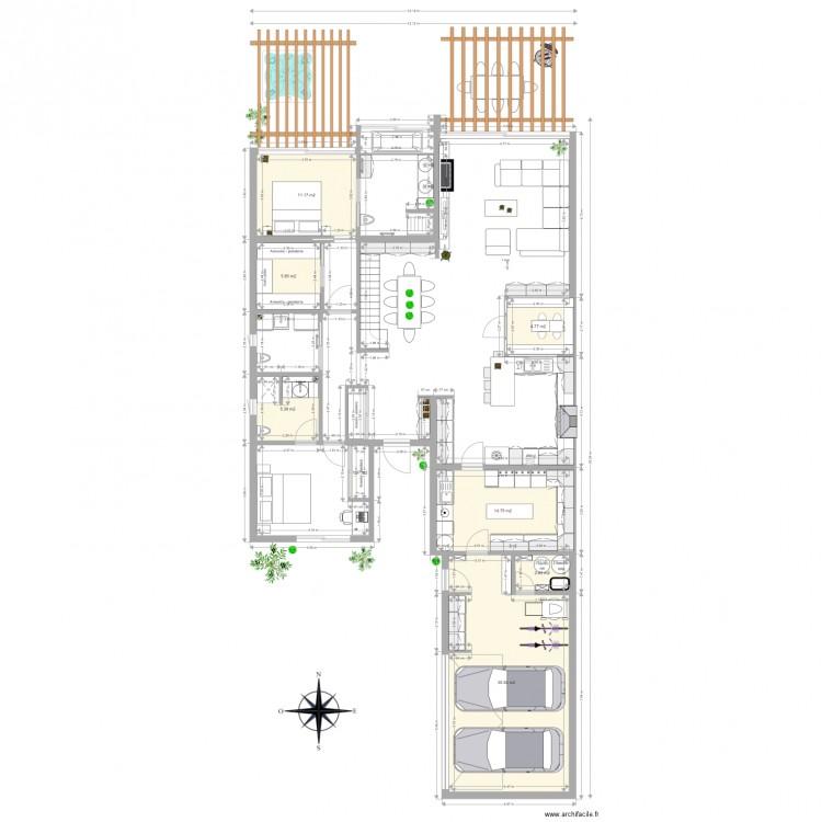 Maison seule avec bain architecte frederic bau 2016 plan for Je dessine ma maison