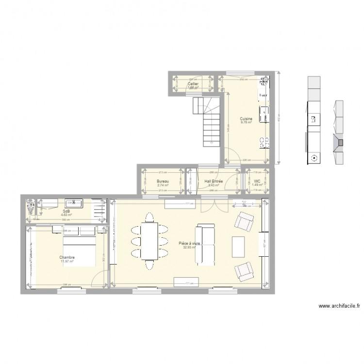 appartement t3 avec sdb et chambre et salon et cuisine et. Black Bedroom Furniture Sets. Home Design Ideas