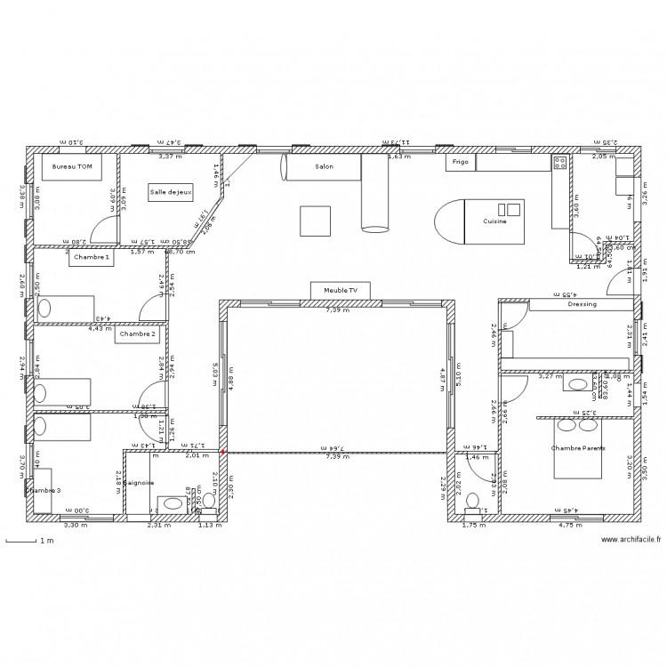 Maison u plan dessin par aneso - Dessiner plan maison en ligne ...