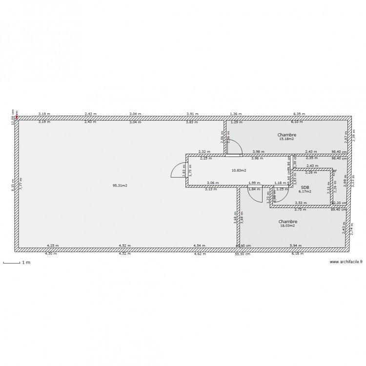 etage maison campagne plan 6 pi ces 150 m2 dessin par alexa77. Black Bedroom Furniture Sets. Home Design Ideas