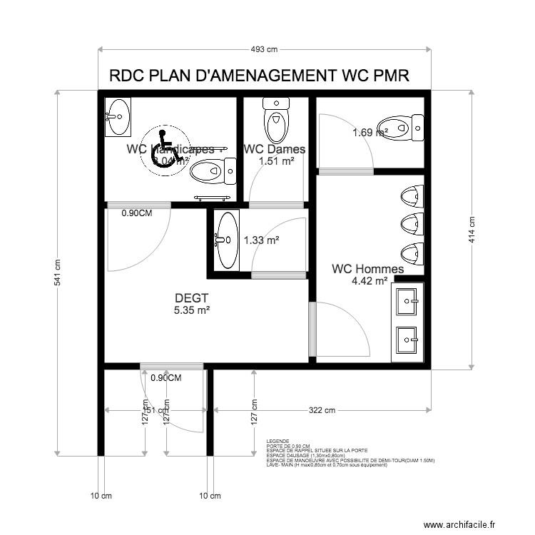 toilette red ice plan 6 pi ces 17 m2 dessin par guida12345. Black Bedroom Furniture Sets. Home Design Ideas