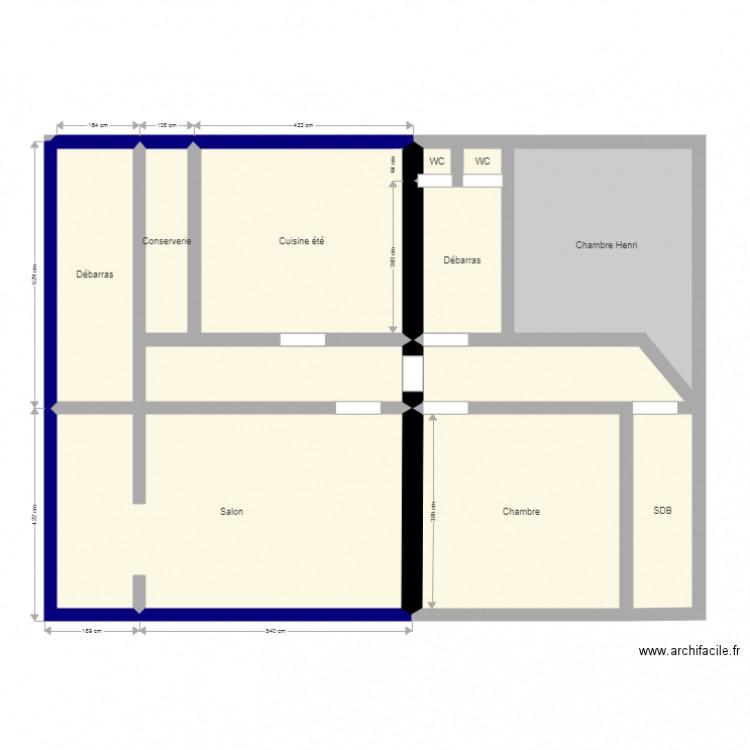 Maison plan 12 pi ces 100 m2 dessin par shenx for Taille moyenne maison