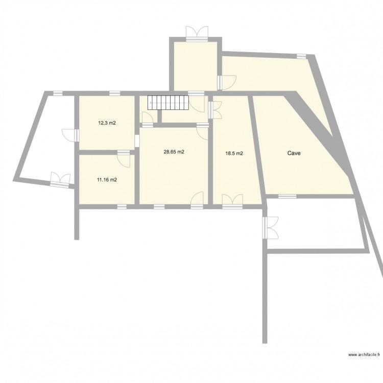 Le patio plan 6 pi ces 119 m2 dessin par christian g for Dessiner plan patio