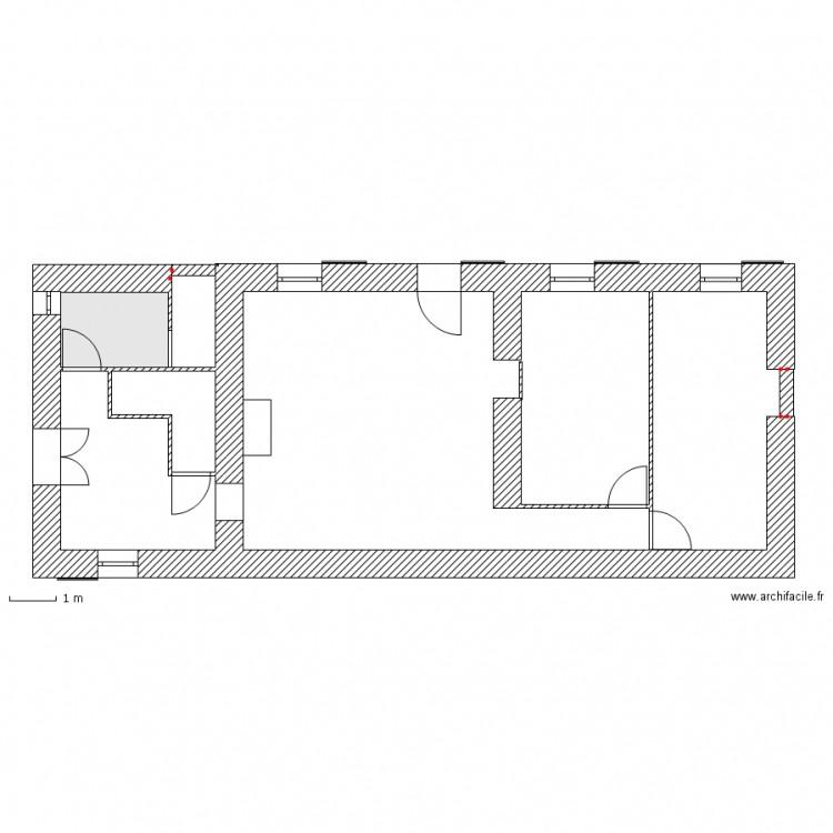 Plan fenetre et porte plan 1 pi ce 4 m2 dessin par for Fenetre plan