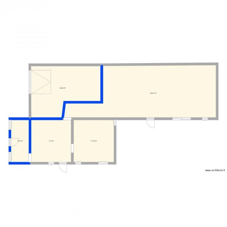 Plan maison plan 5 pi ces 138 m2 dessin par victoria for Taille moyenne maison