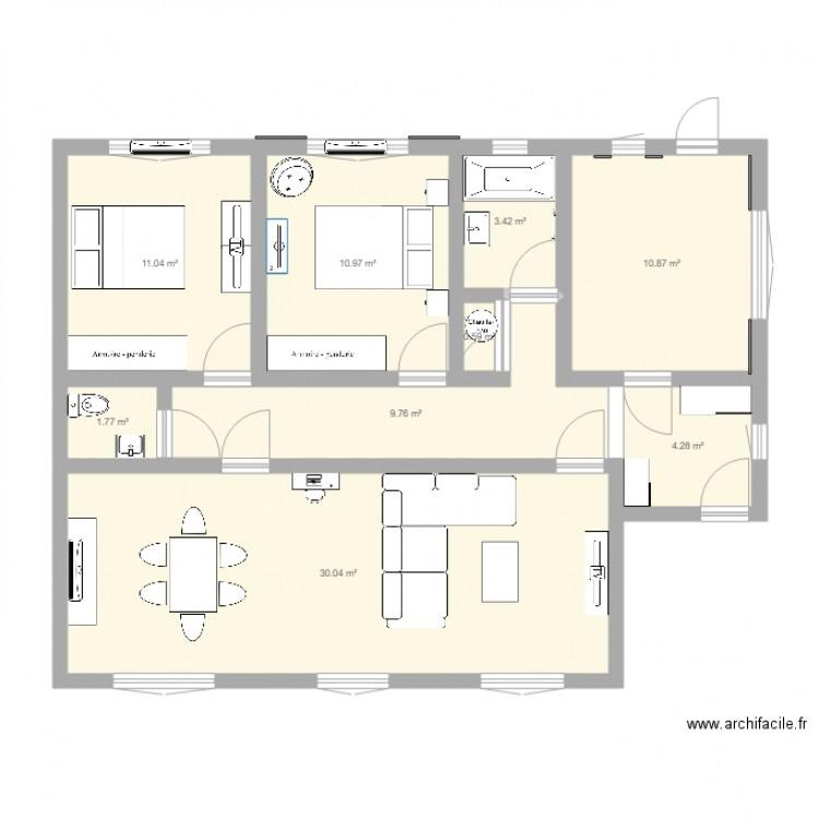 Maison auterive plan 9 pi ces 83 m2 dessin par sweetly for Maison auterive