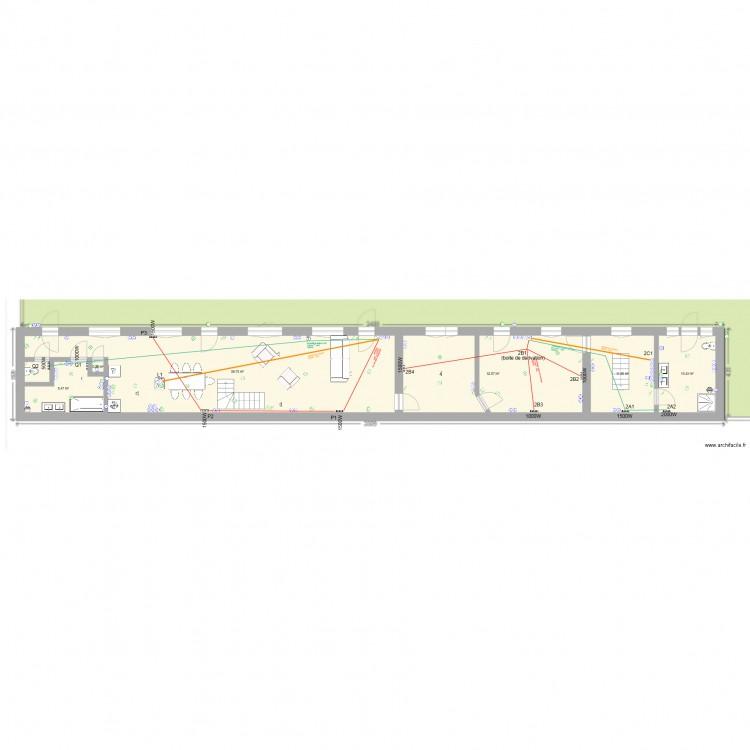 s e w rdc chauffage plan 11 pi ces 218 m2 dessin par hoelig. Black Bedroom Furniture Sets. Home Design Ideas