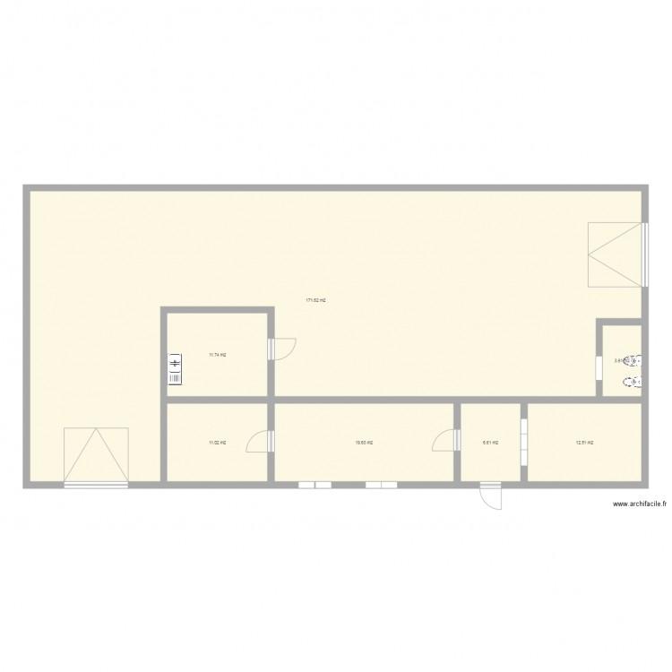 Plan outreau plan 7 pi ces 237 m2 dessin par thocedez for Piscine outreau