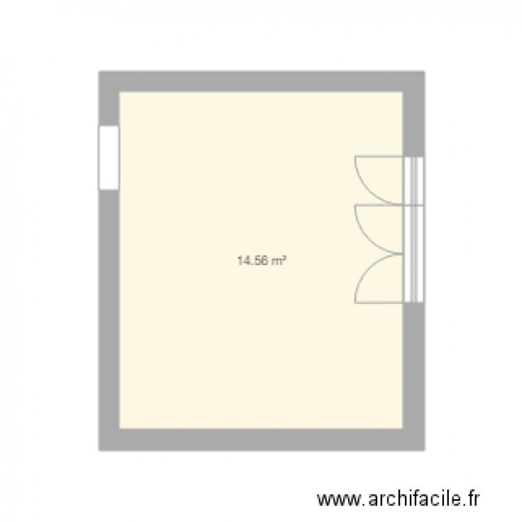 appart plan 1 pi ce 15 m2 dessin par olivier85robin. Black Bedroom Furniture Sets. Home Design Ideas