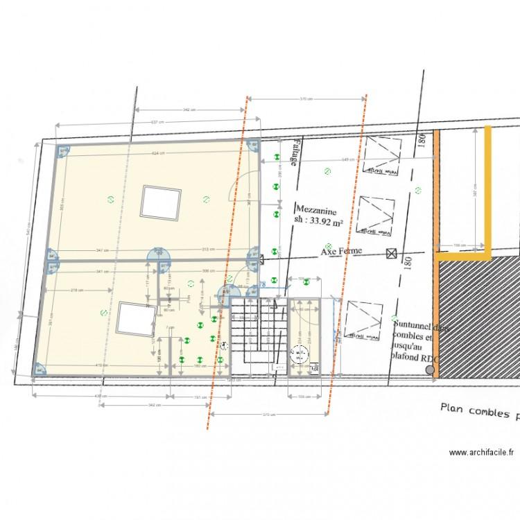Essais implantation electrique cp et cm 27 01 18 plan 3 pi ces 47 m2 dessin par thierryb54 - Consommation electrique moyenne maison 140 m2 ...