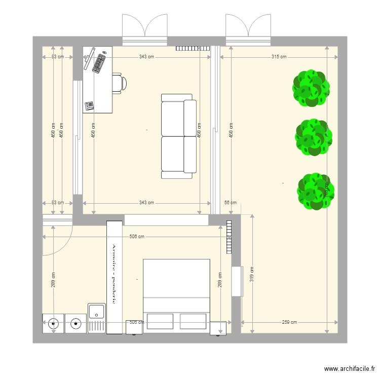 Patio plan 4 pi ces 55 m2 dessin par galdg0 for Dessiner plan patio