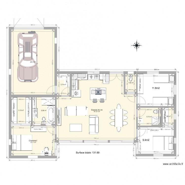 Plan acheres test v3 plan 9 pi ces 111 m2 dessin par for Garage ad acheres