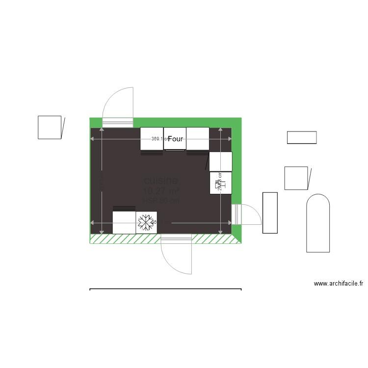 cuisine plan 1 pi ce 10 m2 dessin par franck53. Black Bedroom Furniture Sets. Home Design Ideas
