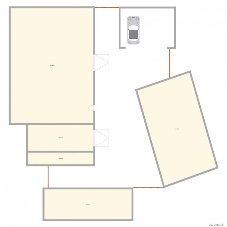 maison 1 plan 5 pi ces 422 m2 dessin par c. Black Bedroom Furniture Sets. Home Design Ideas