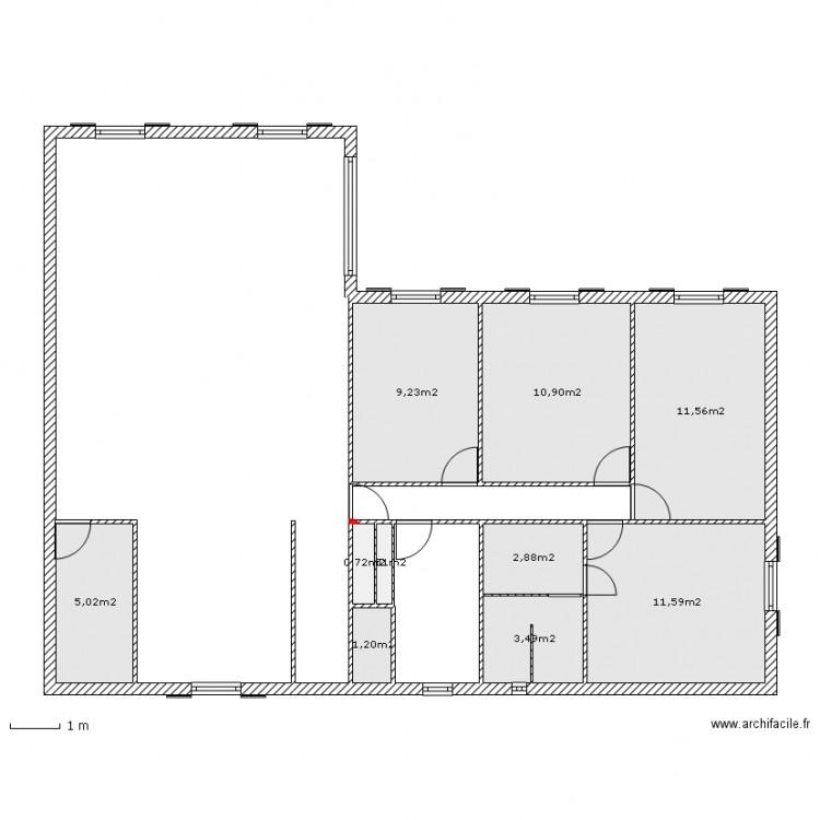 Maison Plain Pied 120m2 Sans Dimension Plan 10 Pièces 57