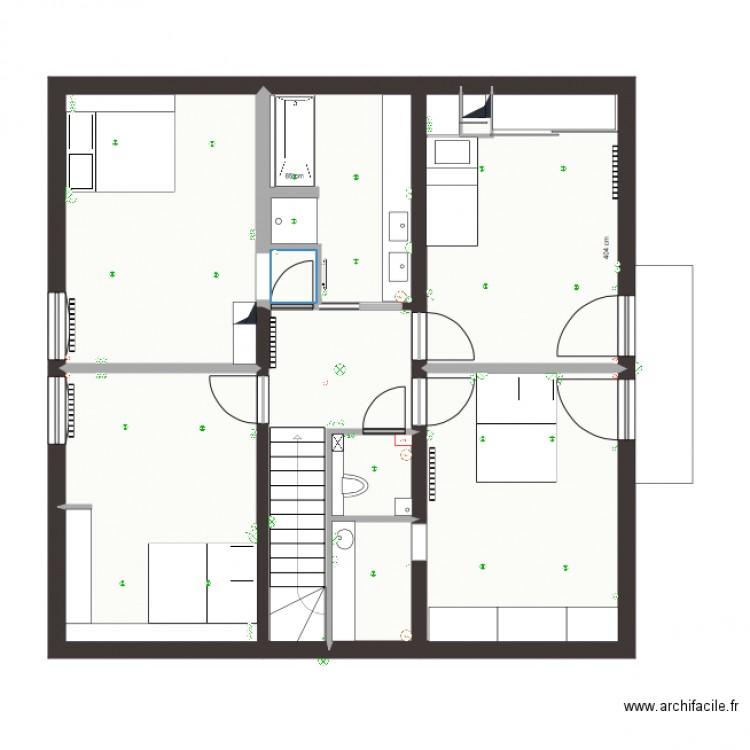 finalisation etage thonon plan 10 pi ces 85 m2 dessin. Black Bedroom Furniture Sets. Home Design Ideas