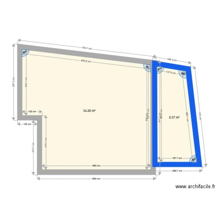 Plan de masse abri jardin plan 2 pi ces 42 m2 dessin par julien dc - Abri jardin grande taille ...