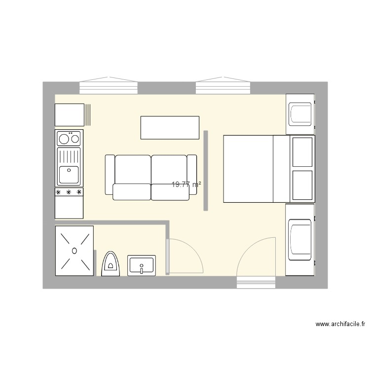 plan appartement 20m2