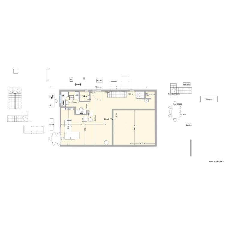 maison carrouge 2 etage plan 2 pi ces 89 m2 dessin par liliv. Black Bedroom Furniture Sets. Home Design Ideas