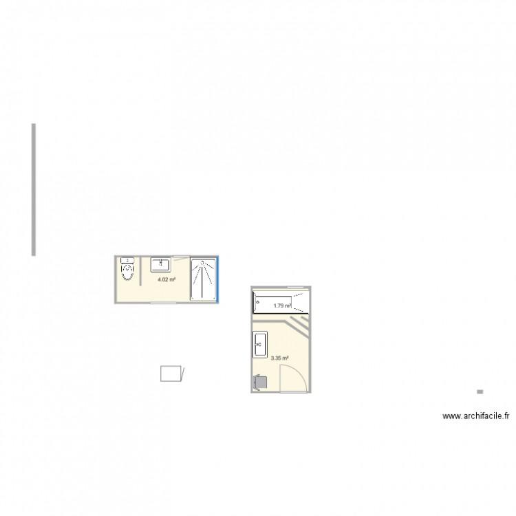 Salle De Bain Plan 3 Pi Ces 9 M2 Dessin Par Mumu59