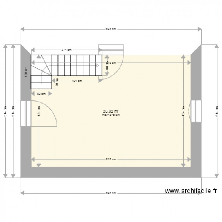 amenagement garage plan 1 pi ce 27 m2 dessin par jlleberre. Black Bedroom Furniture Sets. Home Design Ideas