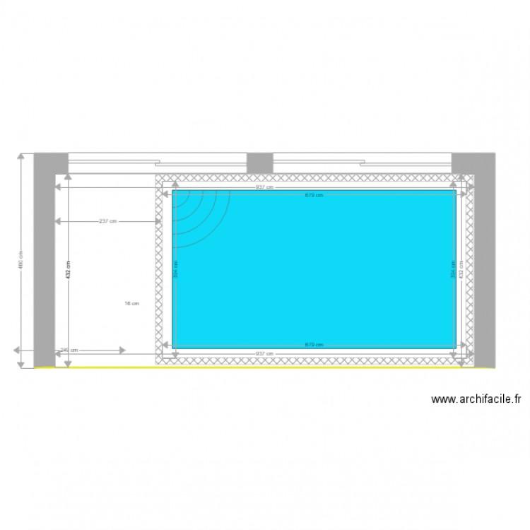 Piscine plan 2 pi ces 67 m2 dessin par samemaocal for Piscine 67