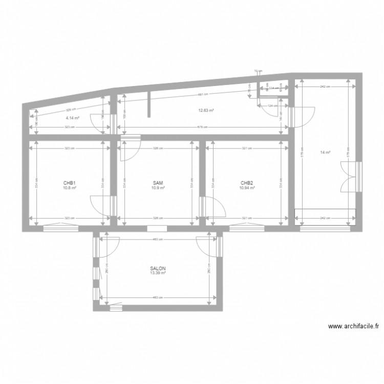 Courcay plan 7 pi ces 77 m2 dessin par totov10 - Construire un plan de travail ...