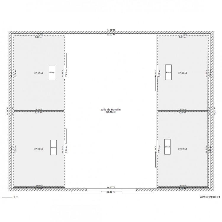 entrepot frigorifique a4 plan 5 pi ces 461 m2 dessin par sogicom project. Black Bedroom Furniture Sets. Home Design Ideas