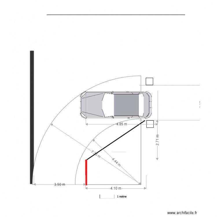Parcours Auto Rayon De Braquage Autoturn 610 Cm Plan Dessine Par Marc Gasnier