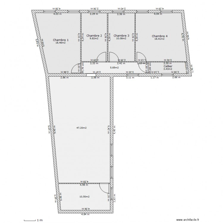 R 1 appartement f6 waziers plan 8 pi ces 112 m2 dessin for Piscine waziers