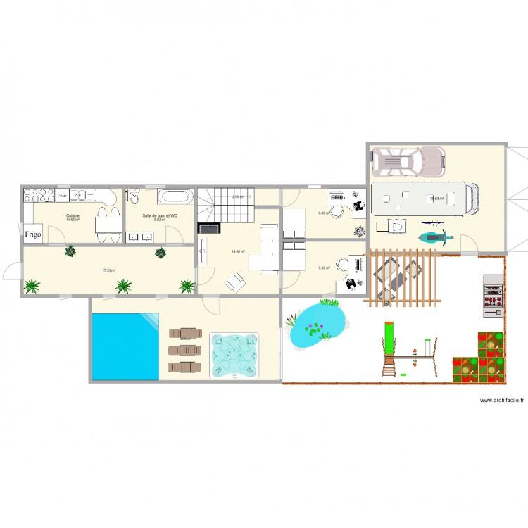 maison de reve plan 9 pi ces 136 m2 dessin par z7264. Black Bedroom Furniture Sets. Home Design Ideas