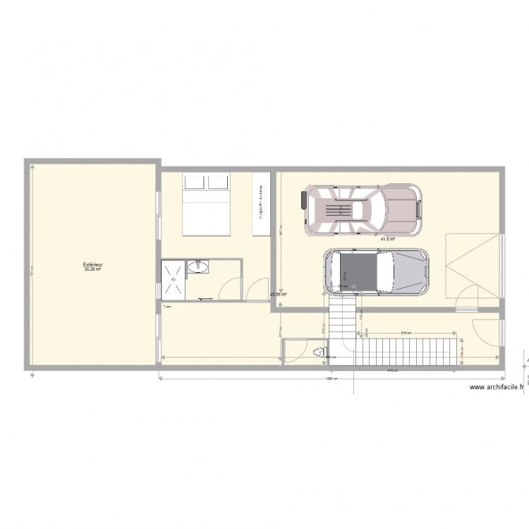 Cave permis 3 plan 13 pi ces 210 m2 dessin par lafefe26 - Refection toiture permis de construire ...