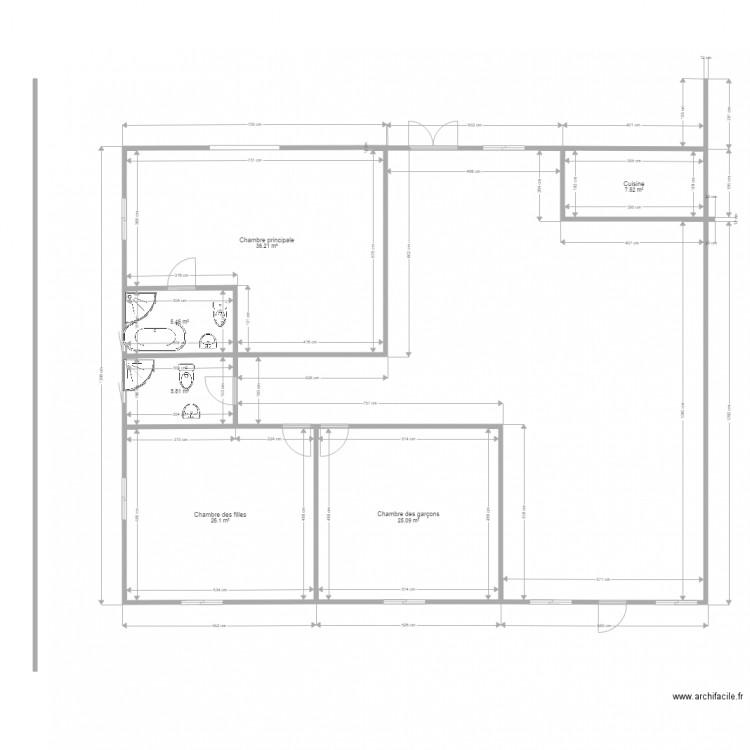 Plan De Maison 3 Pi Ces Ohoussan Plan 6 Pi Ces 106 M2