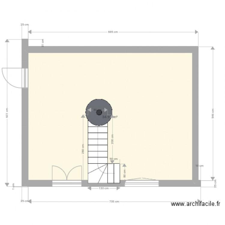 campagne 1 plan 1 pi ce 35 m2 dessin par fafa1312. Black Bedroom Furniture Sets. Home Design Ideas