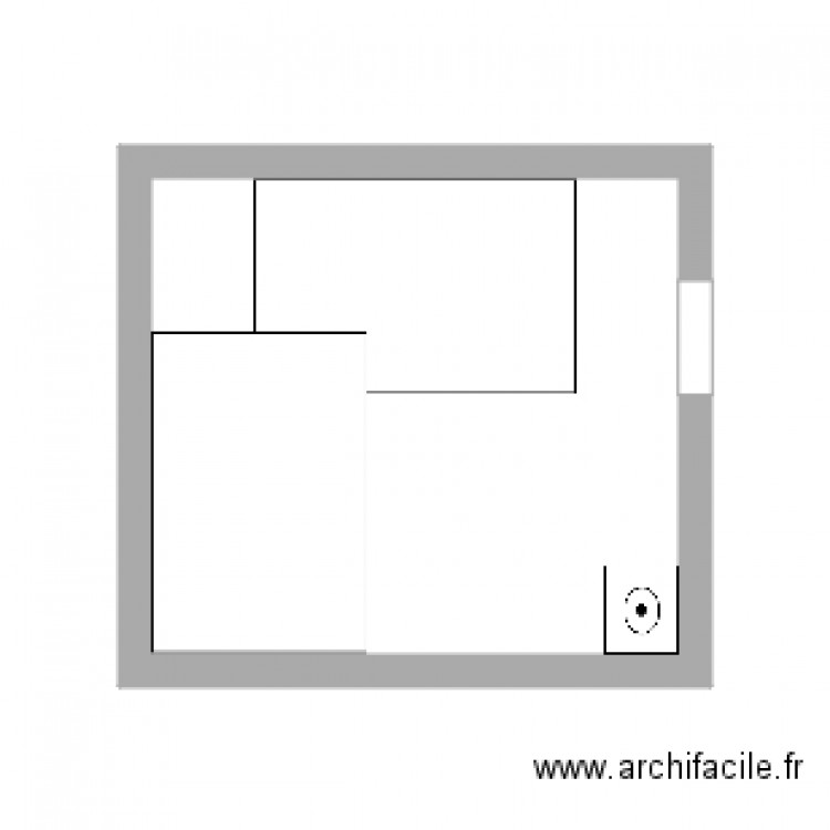 salle muscu plan 1 pi ce 14 m2 dessin par calinou17. Black Bedroom Furniture Sets. Home Design Ideas