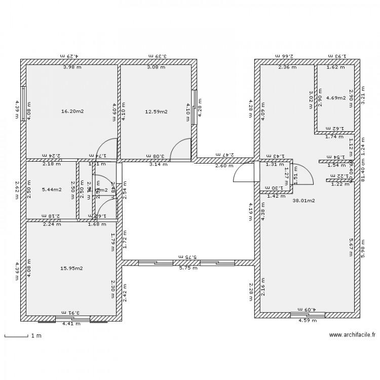 projet maison ossature mtallique plan de 7 pices et 97 m2 - Plan Maison Structure Metallique
