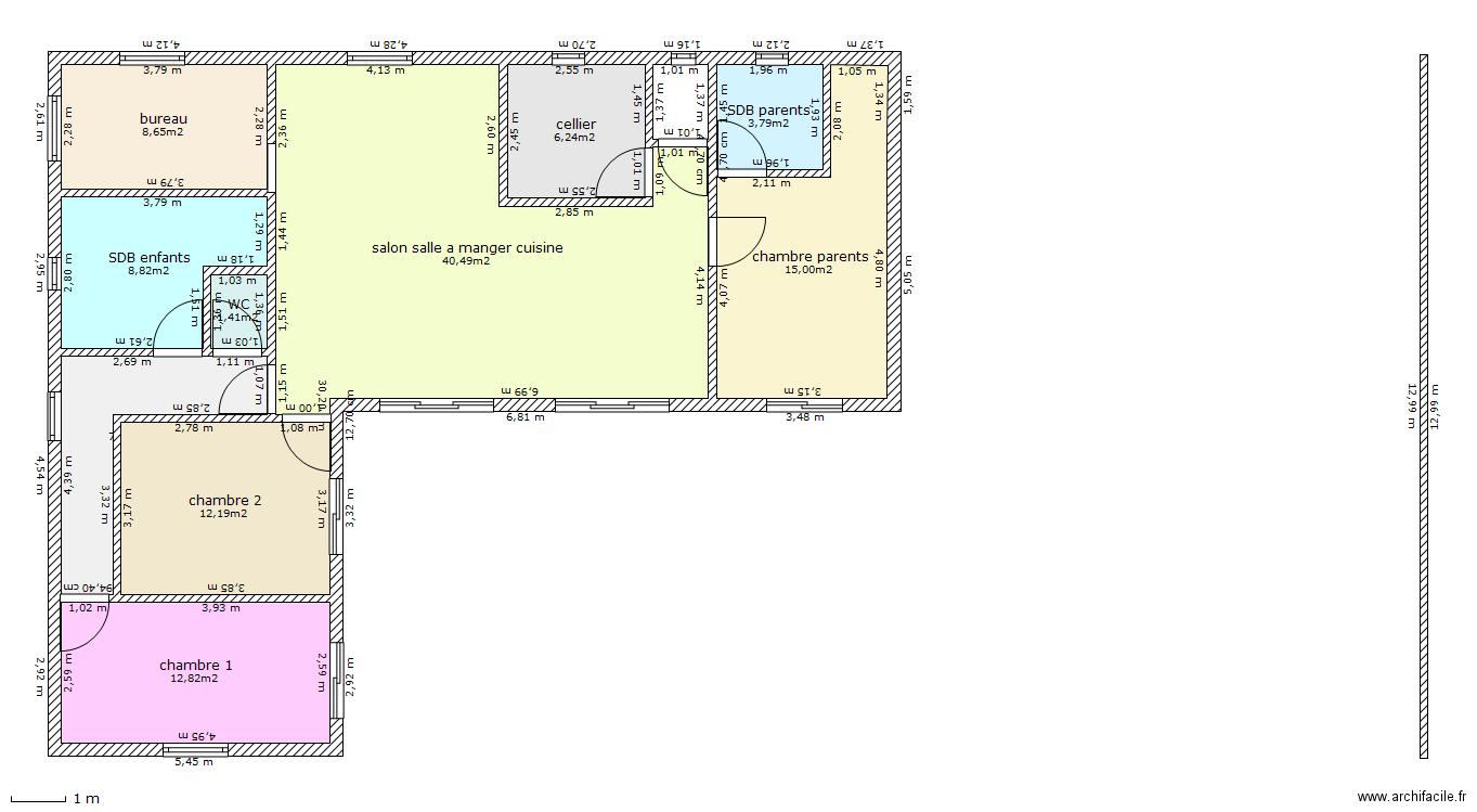 Demande conseils pour mon projet maison 120m2 52 messages - Plan d une maison de 120m2 ...