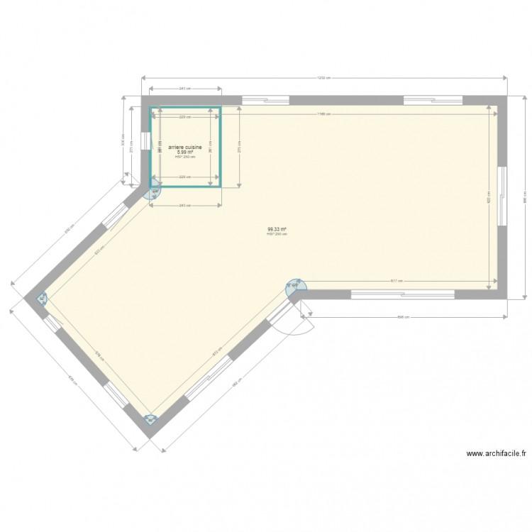 Maison aurel 1 plan 2 pi ces 105 m2 dessin par domfla28 - Plan de maison 2 pieces ...