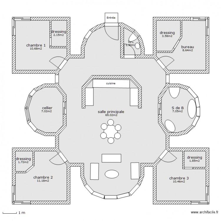 Maison de mes r ves plan 12 pi ces 135 m2 dessin par for Mes plans de maison