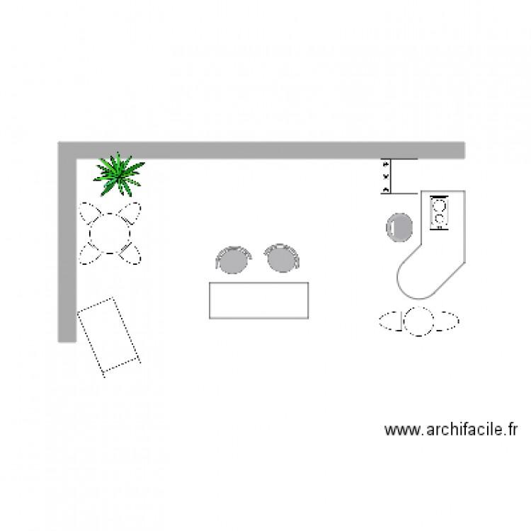 Salon plan dessin par dolores - Construire un plan de travail ...