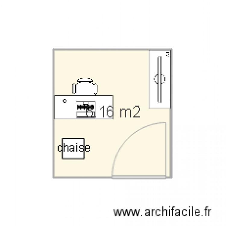 Bureau pix plan 1 pi ce 6 m2 dessin par delagefrederic for Nombre de m2 par personne bureau
