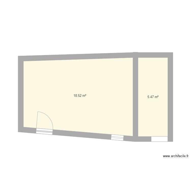plan de haut sans fen tre plan 2 pi ces 24 m2 dessin par damalisq. Black Bedroom Furniture Sets. Home Design Ideas