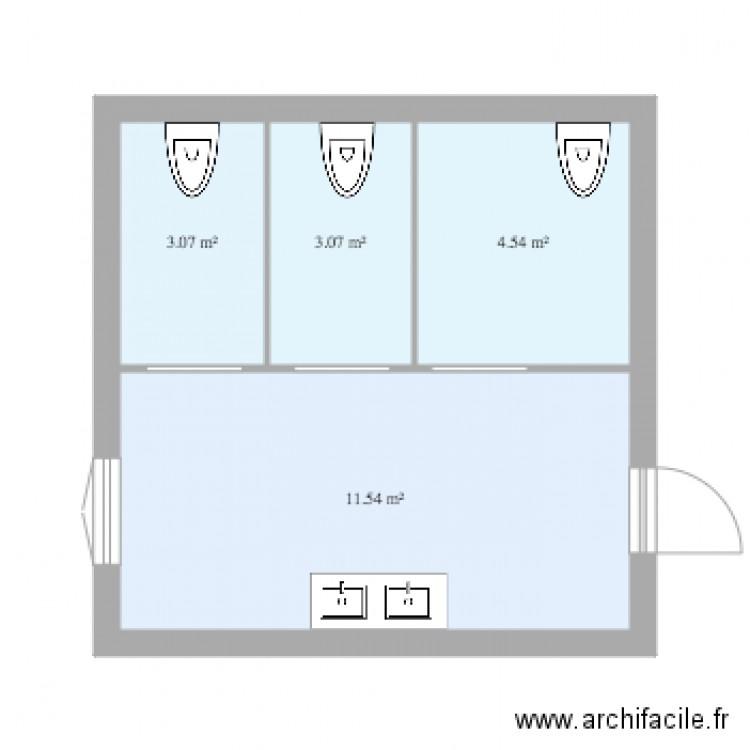 plan de toilette plan 4 pi ces 22 m2 dessin par tancelin. Black Bedroom Furniture Sets. Home Design Ideas