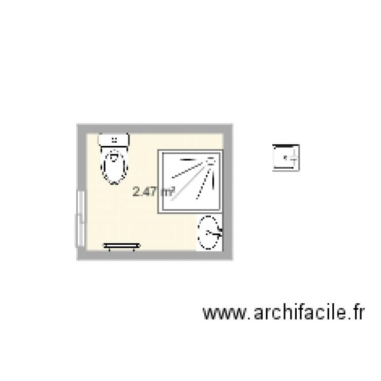 Salle De Bain3 Plan 1 Pi Ce 2 M2 Dessin Par Jfd57
