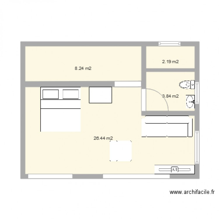 petite maison container apres plan 4 pi ces 41 m2 dessin par moehau. Black Bedroom Furniture Sets. Home Design Ideas