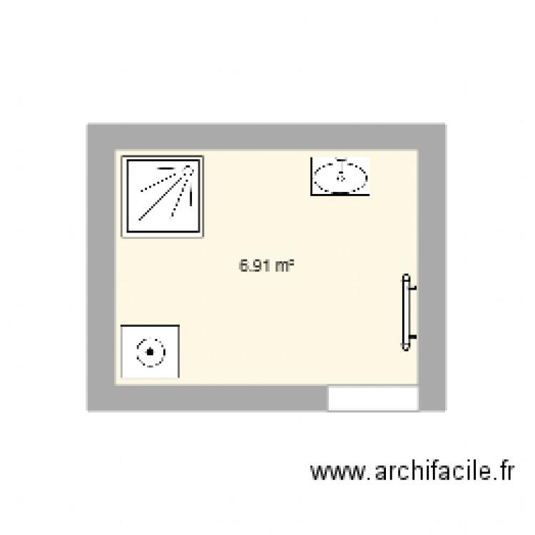 Salle de bain plan 1 pi ce 7 m2 dessin par plan appartement - Salle de bain 7 m2 ...