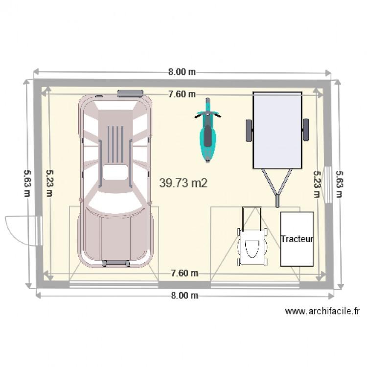 plan de garage 40 m2. Black Bedroom Furniture Sets. Home Design Ideas
